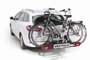 Westfalia Fahrradanhänger roh am Auto montiert